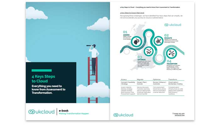 Four steps to cloud: everything you need to know from assessment to Transformation ebook preview