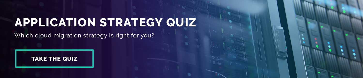 Banner promoting the application strategy quiz