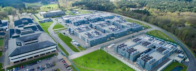 Arial shot of Ark data centres