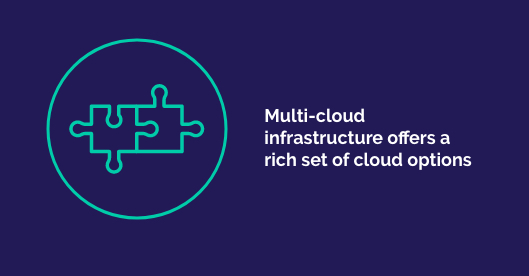 Multi-cloud infrastructure offers a rich set of cloud options