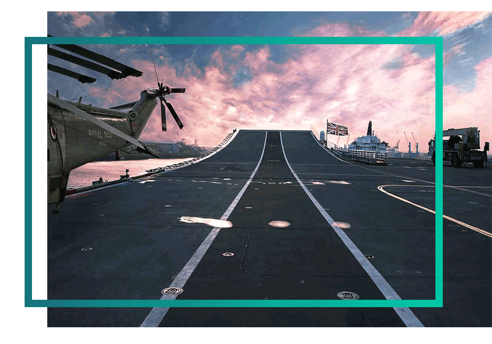 A runway on a naval ship