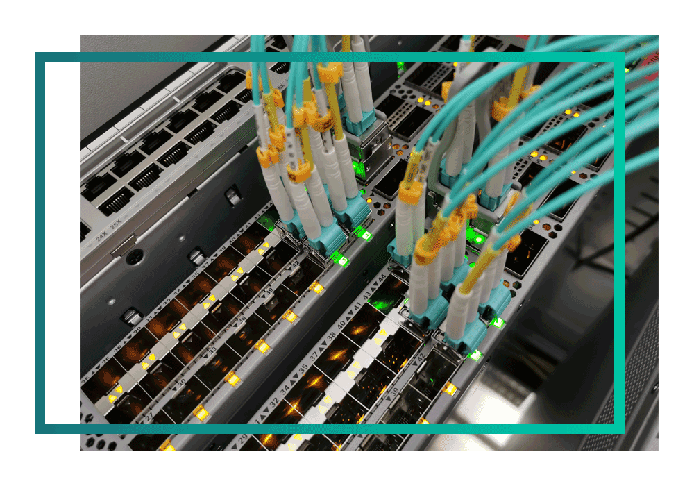 Close up of server in a UK public sector data centre