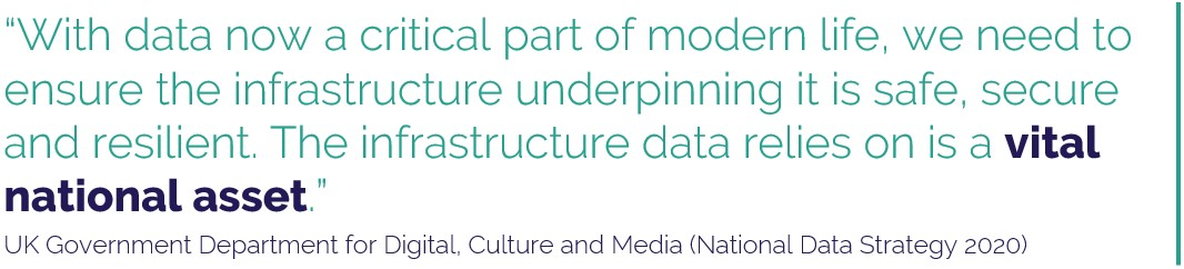 The infrastructure underpinning UK data is a vital national asset