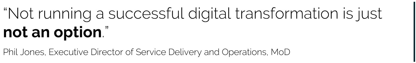 """""""Not running a successful digital transformation is just not an option."""""""